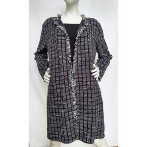 Zara Basic Long Open Front Knit Cardigan XL